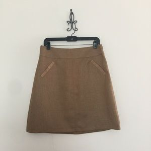 New The Limited Bronze Brown A-Line Skirt Size M